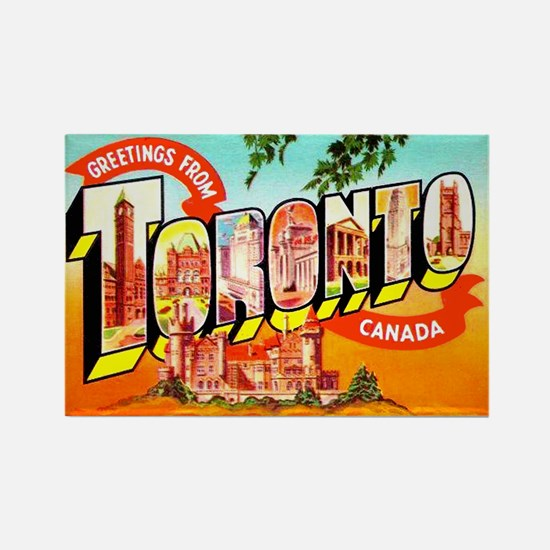 Toronto Ontario Canada Greetings Rectangle Magnet