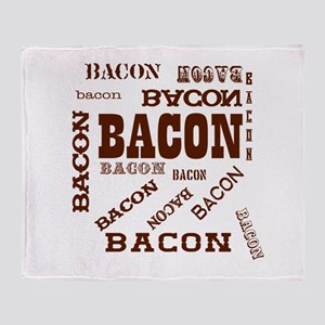 Bacon Bacon Bacon Throw Blanket