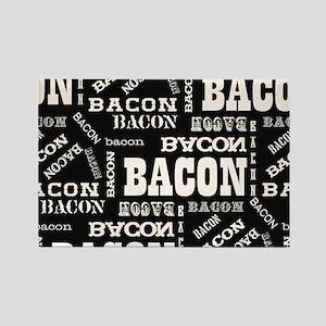Bacon Bacon Bacon Rectangle Magnet