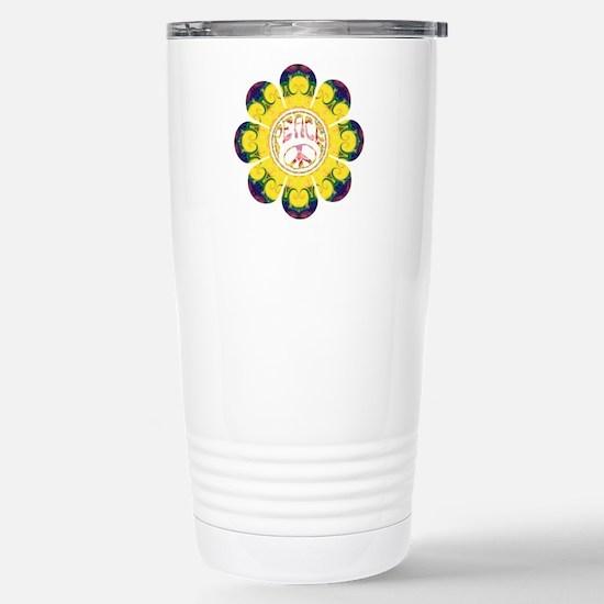 Peace Flower - Omm Stainless Steel Travel Mug