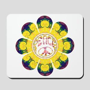 Peace Flower - Omm Mousepad