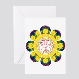 Peace Flower - Omm Greeting Card