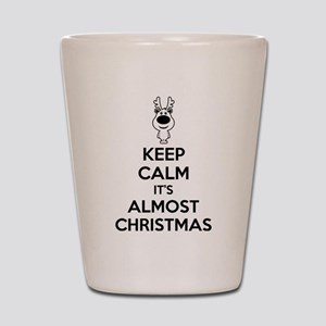 Keep calm it's almost christmas Shot Glass