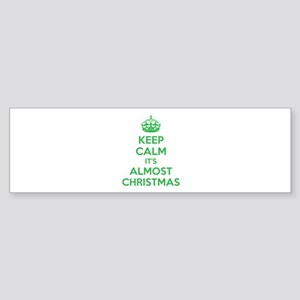 Keep calm it's almost christmas Sticker (Bumper)