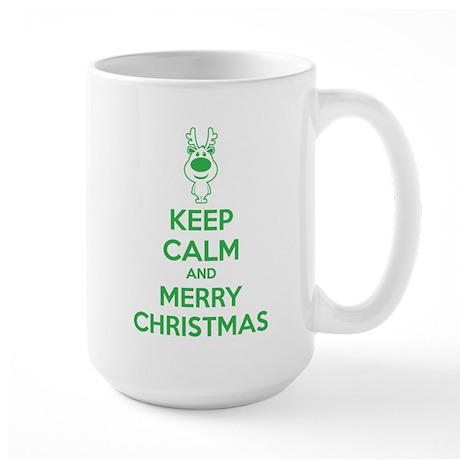 Keep calm and merry christmas Large Mug