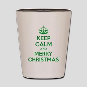 Keep calm and merry christmas Shot Glass