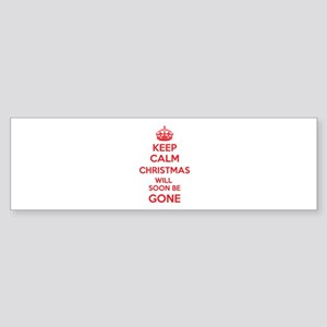 Keep calm christmas will soon be gone Sticker (Bum