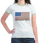 Jewish Flag Jr. Ringer T-Shirt