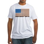 Jewish Flag Fitted T-Shirt