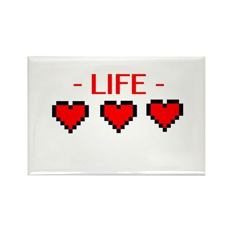 Life Hearts Rectangle Magnet (10 pack)