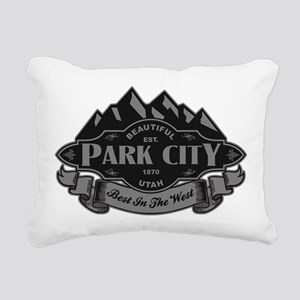 Park City Mountain Emblem Rectangular Canvas Pillo