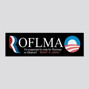 ROFLMAO - Vote Romney or Obama? 36x11 Wall Decal