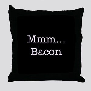 Mmm ... Bacon Throw Pillow