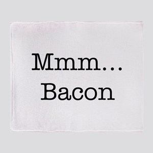 Mmm ... Bacon Throw Blanket