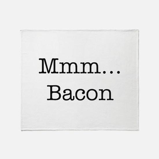 Mmm ... Bacon Throw Blanket