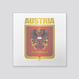 "Austrian Steel (shirt) Square Sticker 3"" x 3"""