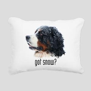 got snow Rectangular Canvas Pillow