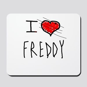 i love Halloween Freddy Mousepad