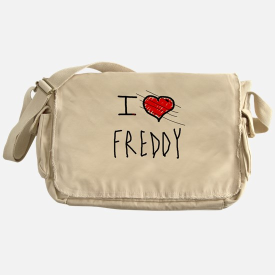 i love Halloween Freddy Messenger Bag