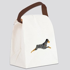 Leaping Rottweiler Canvas Lunch Bag