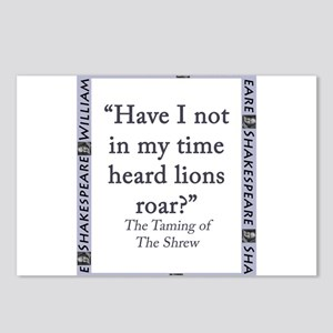 Have I Not Heard The Lions Roar? Postcards (Packag