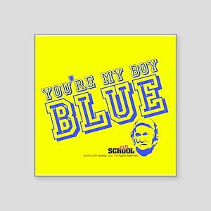 "Blue Square Sticker 3"" x 3"""