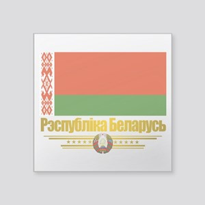 "Belarus (Flag 10)2 Square Sticker 3"" x 3"""