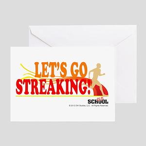 Streaking Greeting Card