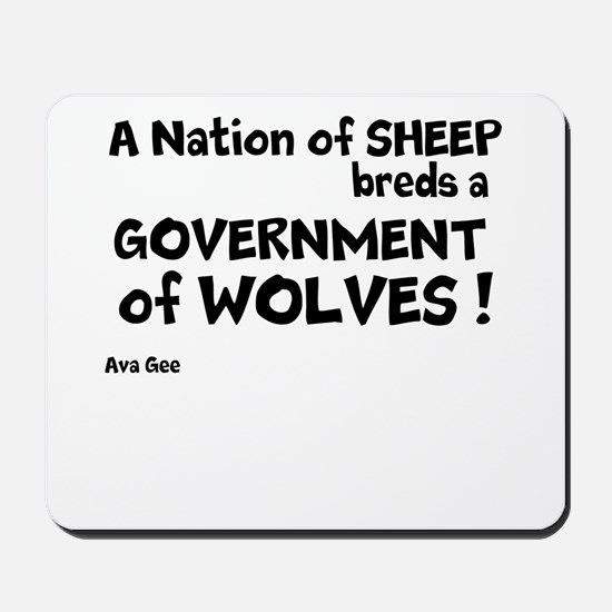 Government of Wolves Mousepad