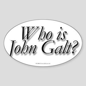 Who is John Galt Rectangle Sticker