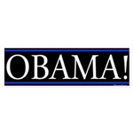 Obama! Sticker (Bumper)