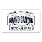 Grand Canyon Blue Signag Sticker (Rectangle 10 pk)