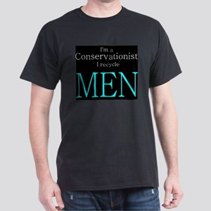 Green, conservation, humor Black T-Shirt