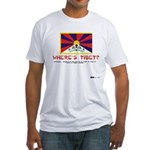 Where's Tibet. Seriously... Fitted T-Shirt