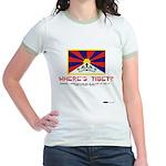 Where's Tibet. Seriously... Jr. Ringer T-Shirt