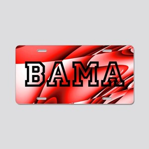 Bama Red Aluminum License Plate
