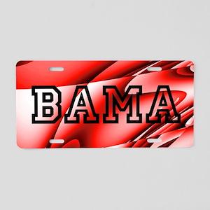 Bama Red Aluminum License Plate