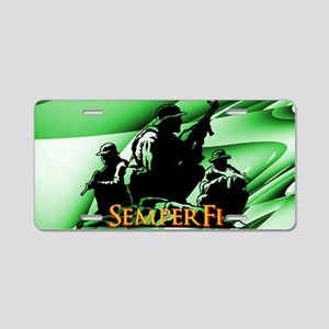 Military Green Aluminum License Plate