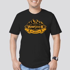 Whistler Mountain Emblem Men's Fitted T-Shirt (dar