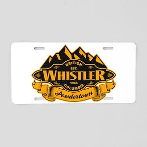 Whistler Mountain Emblem Aluminum License Plate