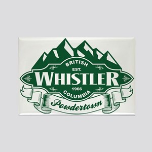 Whistler Mountain Emblem Rectangle Magnet