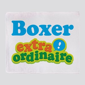 Boxer Extraordinaire Throw Blanket