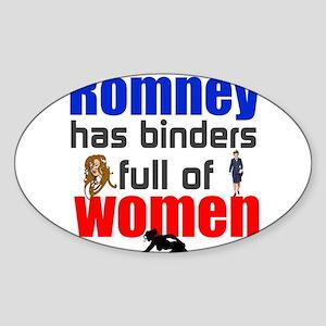 Binders full of women Sticker (Oval)