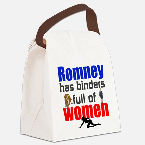 Binders full of women Canvas Lunch Bag