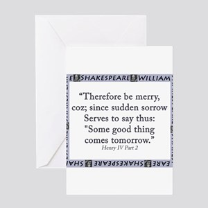 Therefore Be Merry Greeting Card