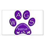 WagsLogo1_Purple Sticker (Rectangle 10 pk)