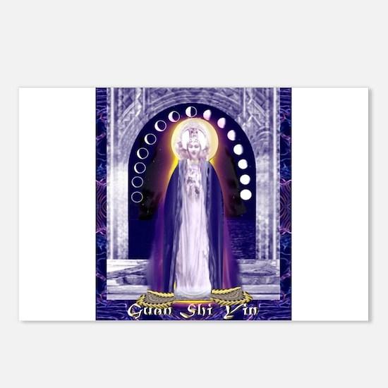 KUAN YIN WATER-MOON GODDESS BLESSINGS Postcards (P