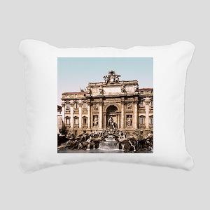 Fountain of Trevi Rectangular Canvas Pillow