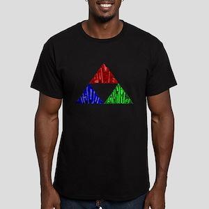 Three Virtues Men's Fitted T-Shirt (dark)