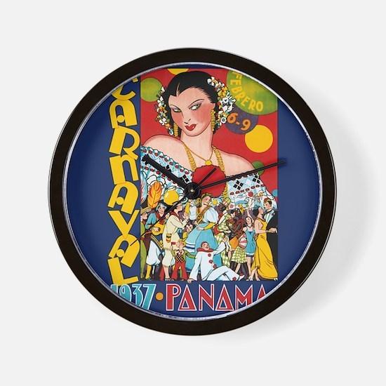 1937 Panama Carnival Wall Clock